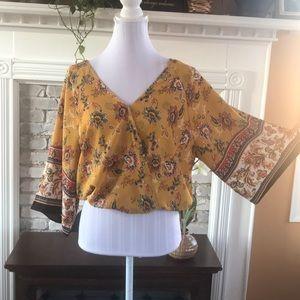 Crescent & Willough blouse  Floral Size Junior XL